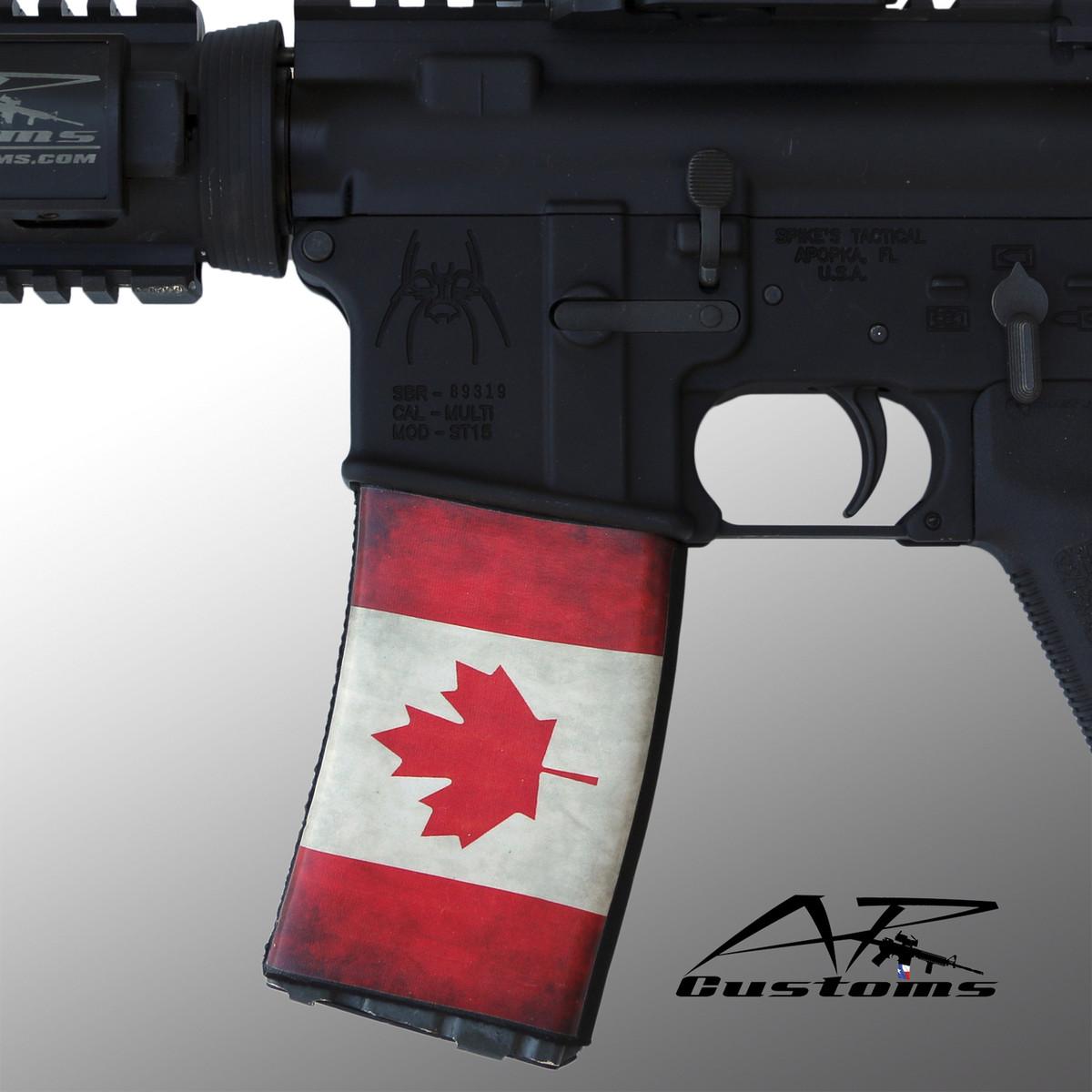 canadian flag mag soc mag wraps mag socks