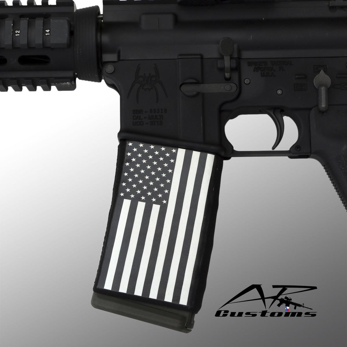 BLACK & WHITE US FLAG - AR Customs