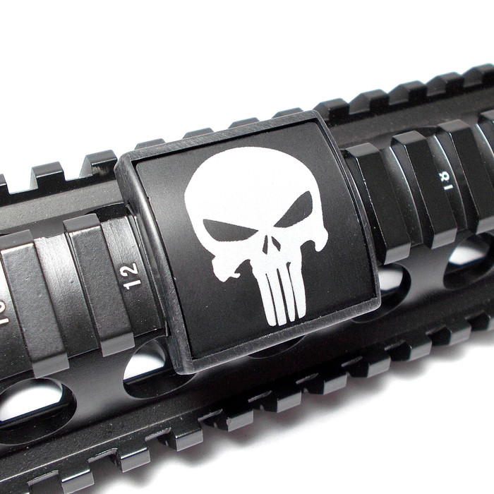 PUNISHER- SMALL LASER ENGRAVED ALUMINUM