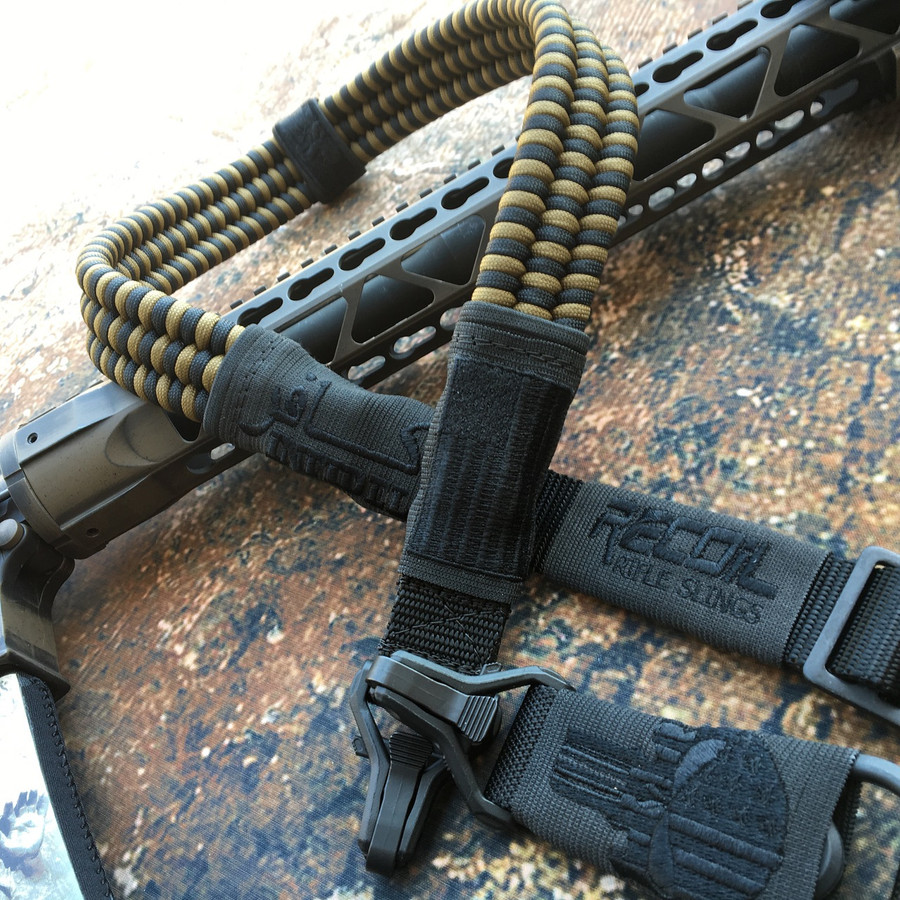 BLACK & FDE PARACORD SLING (SUBDUED VERSION)