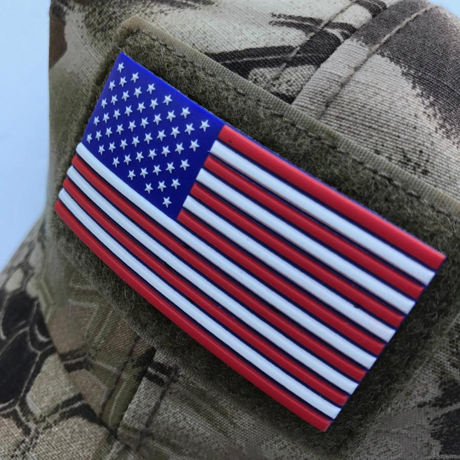 Red White and Blue US Flag Stars Left