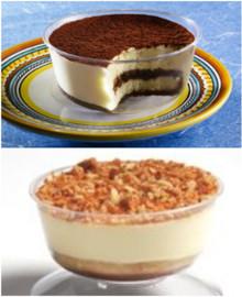 Tiramisu and Toasted Almond Dessert Cups (3.5 oz)