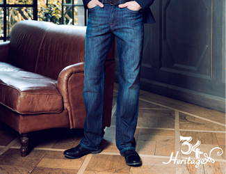 View our selection of denim and casual pants by 34 Heritage.