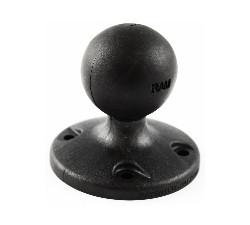 """RAM 2.5"""" Round Base w/ AMPs Hole Pattern & 1.5"""" Ball"""