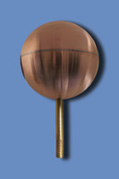 Flag Pole Ball Ornaments - Copper