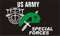 Special Forces with Beret & Knife Military Flags
