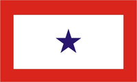 Blue Star Service (1 Star) Military Flags