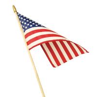 No-Fray (Unhemmed) Economy Cotton U.S. Flag