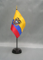 Ecuador (with Seal) (UN OAS) Stick Flags