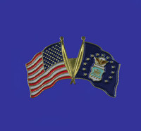 U.S./Air Force Double Flag Lapel Pin