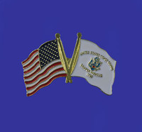 U.S./Coast Guard Double Flag Lapel Pin