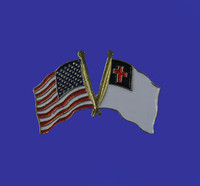 U.S./Christian Double Flag Lapel Pin