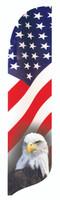 Patriotic Eagle Blade Flag