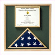 Folded Ceremonial Flag & Document Case