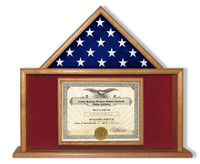 Mantle Piece for Document and Ceremonial Flag
