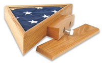 Memory Triangle on Pedestal (Casket Flag Only)