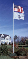 20' Telescoping Flag Pole - Flag Included