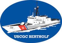 USCGC Bertholf Oval Magnet