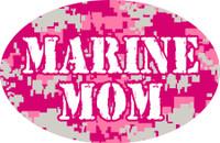 Marine Mom Oval Magnet