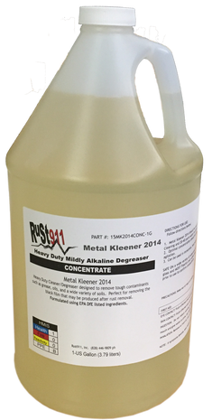 "Metal Kleener 2014 Heavy Duty Detergent- Great for removing ""black residue"" after rust removal process"