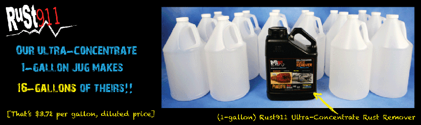 1 gal makes 16 gallons rust remover