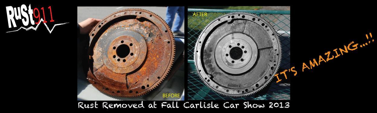 rust911 rust removal on flywheel