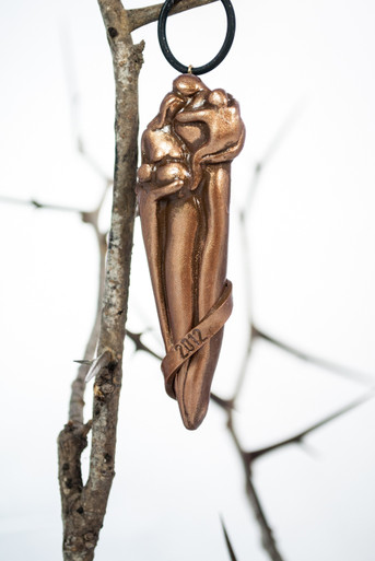 Family Ornaments, Expecting Family of Four, Bronze Finish
