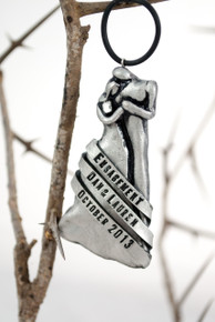 Silver Engagement Ornament