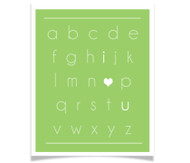 I Heart You Alphabet