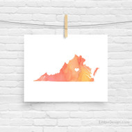 Virginia - Watercolor Series