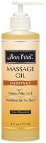 Bon Vital' Hazelnut Massage Oil - 8oz w/Pump