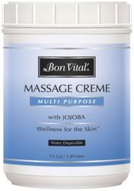 Bon Vital' Multi Purpose Massage Cream Unscented - 1/2 Gallon