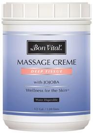Bon Vital' Deep Tissue Massage Cream - 1/2 Gallon