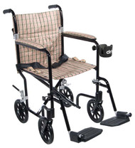 Drive Medical Deluxe Fly-Weight Aluminum Transport Chair