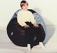 "Bean bag chair, small (93""circumference) yellow"