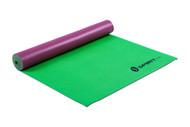"Spirit TCR Yoga Mat 24"" x 69"" x 5mm Maroon/Leaf"