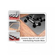 "Element Fitness Interlocking Floor Mats 24""x 24""x 1/2"""