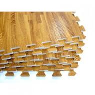 Element Fitness Wood Finish Interlocking Floor Mats