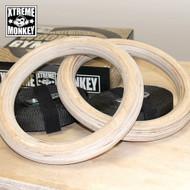 Xtreme Monkey Wood Gym Rings