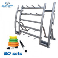 Element Fitness 20 Set Cardio Pump with Rack