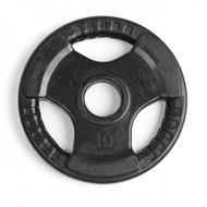 Element Fitness Virgin Rubber Commercial Olympic 3 Grip Handle plate - 10 lbs