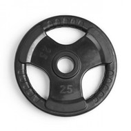 Element Fitness Virgin Rubber Commercial Olympic 3 Grip Handle plate - 25 lbs