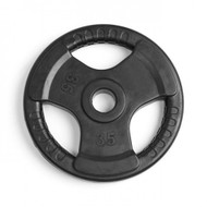 Element Fitness Virgin Rubber Commercial Olympic 3 Grip Handle plate - 35 lbs