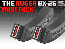 Ruger BX-25 Two-Pack, 25 Rounds, Black