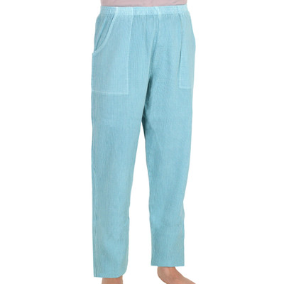 Light Corded Cotton Pants Jamaican Aqua