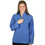 Mirage Cotton Long-Sleeve Mandarin Top Sky Blue