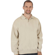 Canton Cotton Weekender Polo - Flax