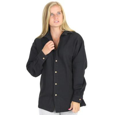 Womens Canton Cotton Chamois Shirt AKA Big Easy GENDER NEUTRAL Black