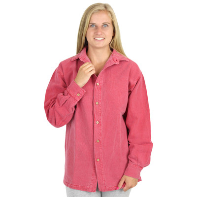 Womens Canton Cotton Chamois Shirt AKA Big Easy GENDER NEUTRAL Barn Red