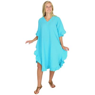Crinkle Cotton Kaftan Dress Maui